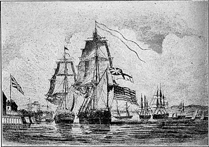 [The Shannon bringing the Chesapeake into Halifax Harbour]